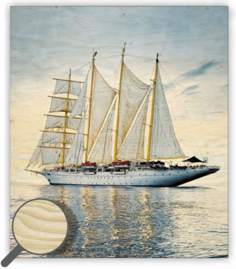 Wooden Picture  Sailing  (O008)