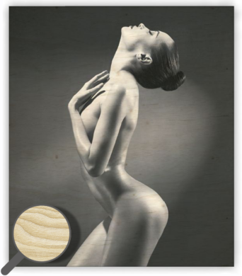 Wooden Picture Woman(O016)