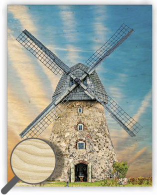 Wooden Picture Windmill  (O036)