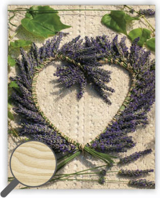 Wooden Picture Heart(O039)