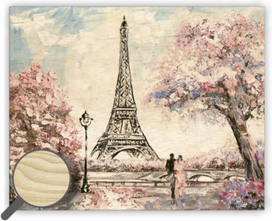 Wooden Picture Eiffel Tower Small(O043)