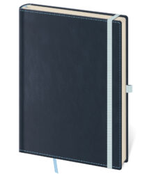 Notebook Double Blue L blank
