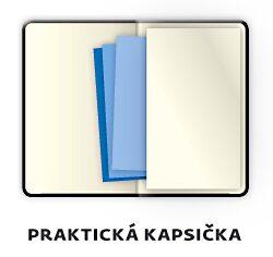 Notebook Double Blue L dot grid(BB425-2)