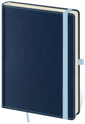 Notebook Double Blue S dot grid - Format: 90 x 140 mm
