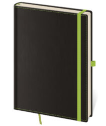 Notebook Black Green S dot grid - Format: 90 x 140 mm