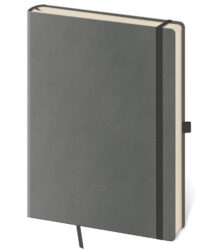 Notebook Flexies L blank grey