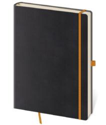 Zápisník Flexies L linkovaný černý