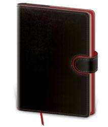 Notebook Flip L lined black/red