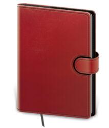 Zápisník Flip L linkovaný červeno/černý