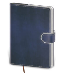 Notebook Flip L lined blue/white