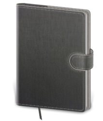Notebook Flip L lined grey/grey