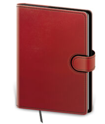 Notebook Flip L dot grid red/black
