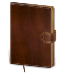 Notebook Flip L dot grid brown/brown