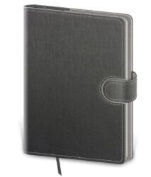 Notebook Flip L dot grid grey/grey-Format: 143 x 205 mm Content: 192 Pages Pen holder Notebooks