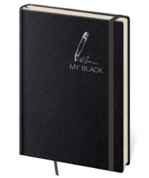 Zápisník My Black L linkovaný