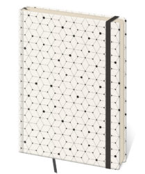 Notebook Vario L dot grid design 5 - Format: 143 x 205 mm