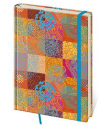 Notebook Vario L dot grid design 8 - Format: 143 x 205 mm