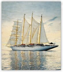 Wooden Picture  Sailing(O008)