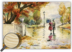 Wooden Picture Romance - 48,5 x 34 cm picture 