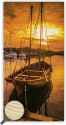 Wooden Picture Sunset - 31,5 x 63 cm picture 