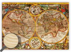 Wooden Picture Antique Maps