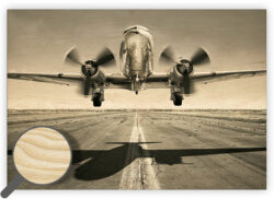 Wooden Picture Airplane