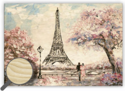 Wooden Picture Eiffel Tower