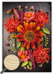 Wooden Picture Flowers
