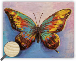 Wooden Picture Butterfly - 30 x 24 cm picture 